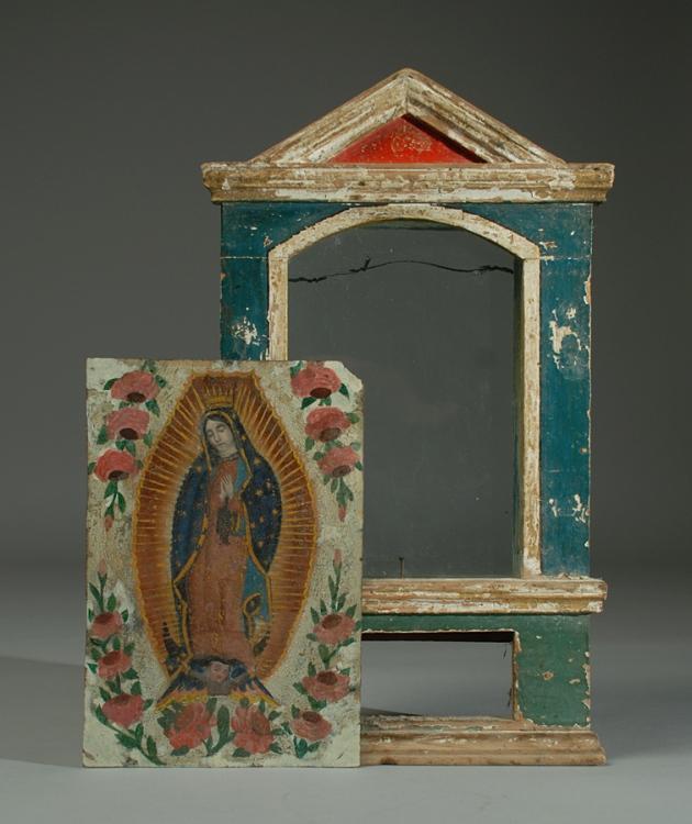 Mexican retablo, 19th century.