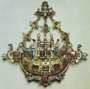 Gondola pendant, c. 1570, attributed to Giovanni Battista Scolari.