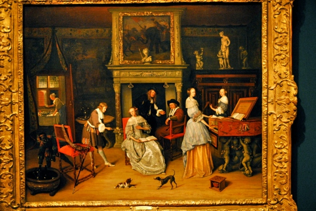 Jan Steen, Fantasy Interior with Jan Steen and the Family of Gerrit Schouten, c. 1659-1660.