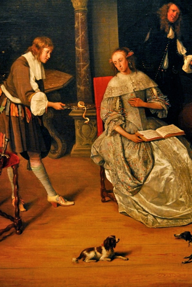 Jan Steen, Fantasy Interior with Jan Steen and the Family of Gerrit Schouten (detail), c. 1659-1660.