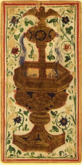 Visconti-Sforza tarot, Ace of Cups, 1451.