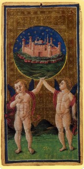Visconti-Sforza tarot, The World, 1451.
