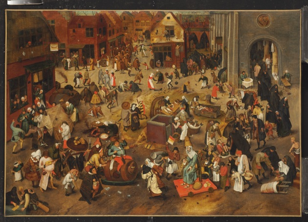 Pieter Bruegel, The Fight Between Carnival and Lent, oil on planel, 1559.