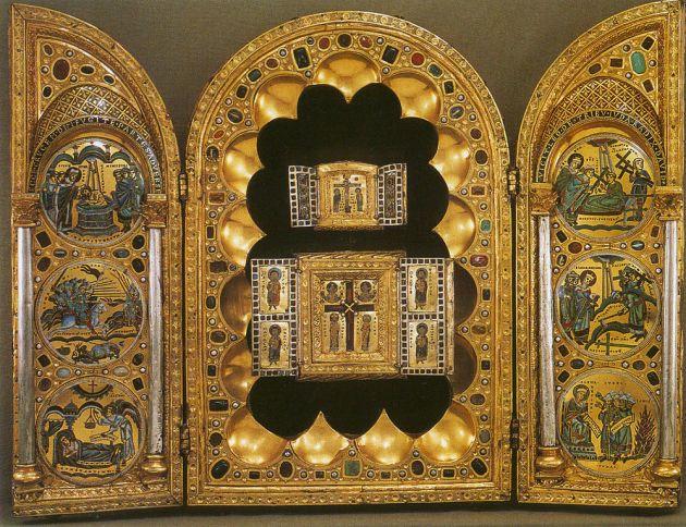 Stavelot Triptych, Mosan, Belgium, c. 1158.