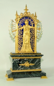 Bras en l'air clock. French. c. 1890.