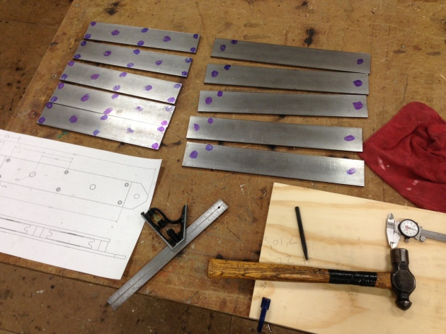 Layout for top and bottom mule block plates at UT Scenic Studio.