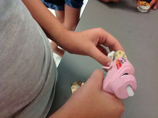 Love the pink hot glue guns.